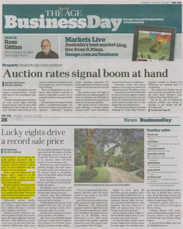 The Age - Monday, 19 August 2013
