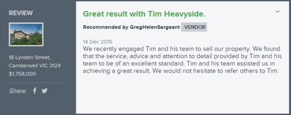 Tim Heavyside testimonial